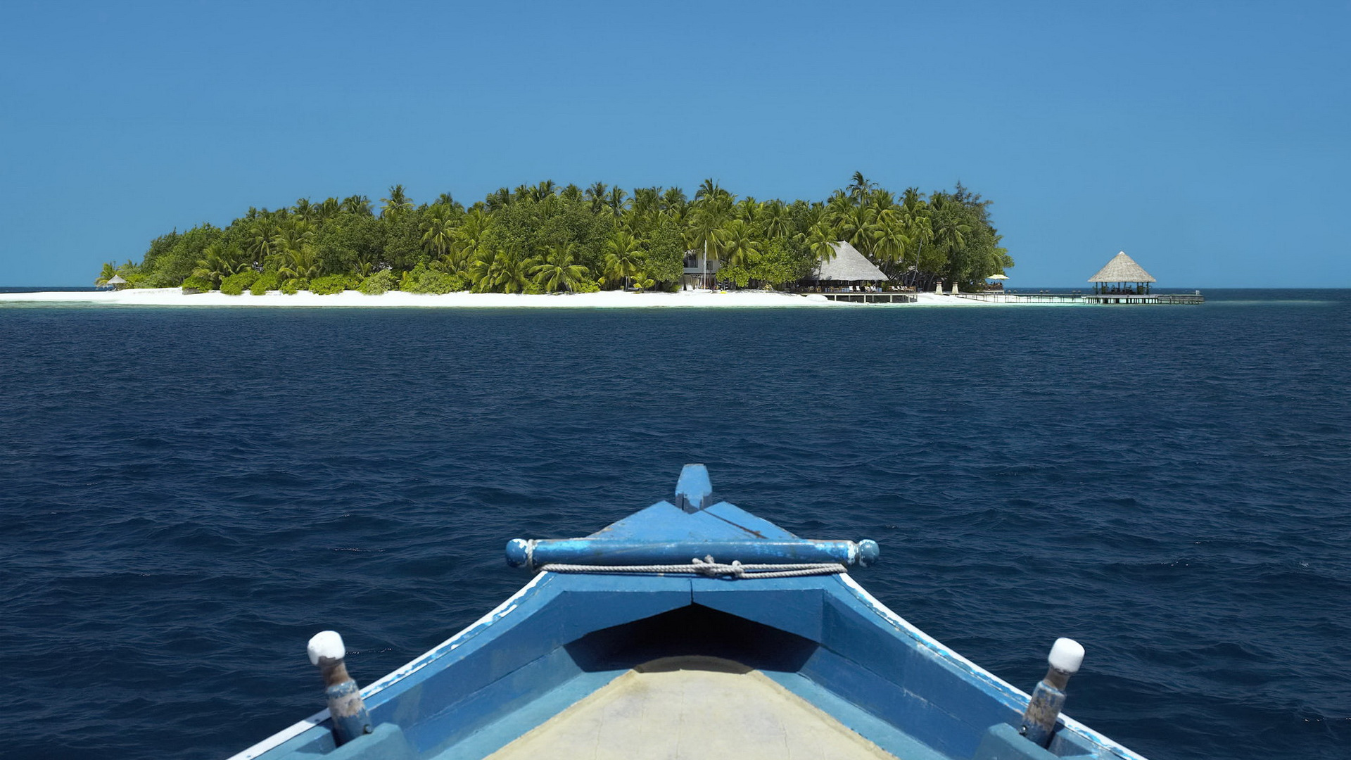 View from boat of tropical island